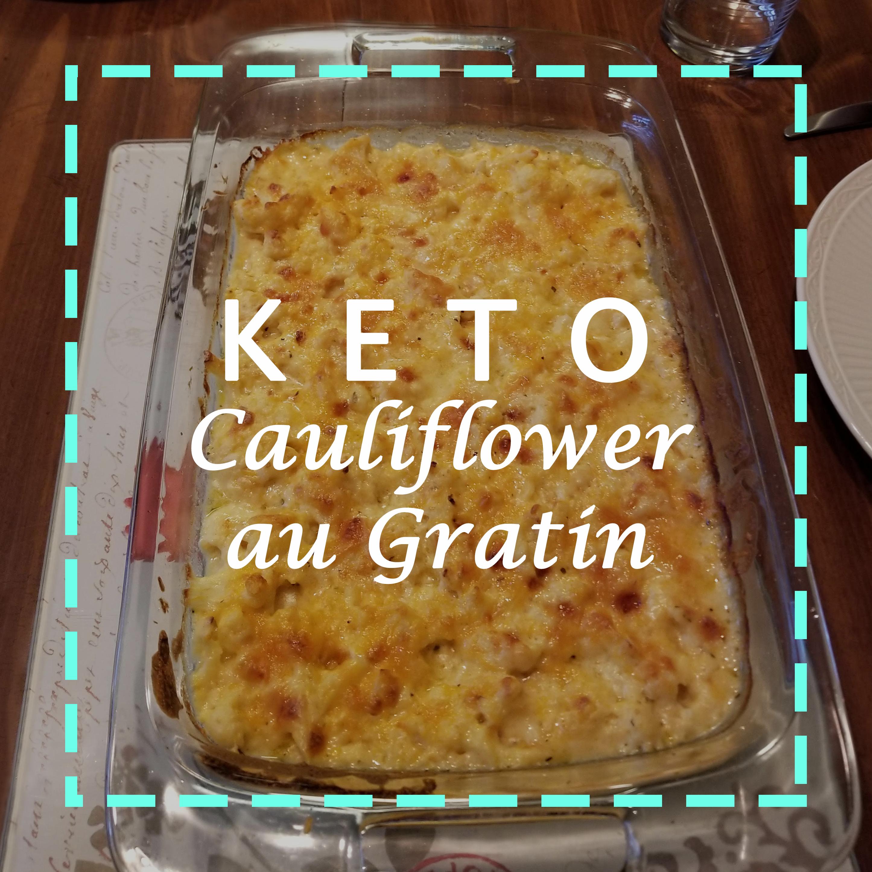 Vegetarian keto cauliflower au gratin