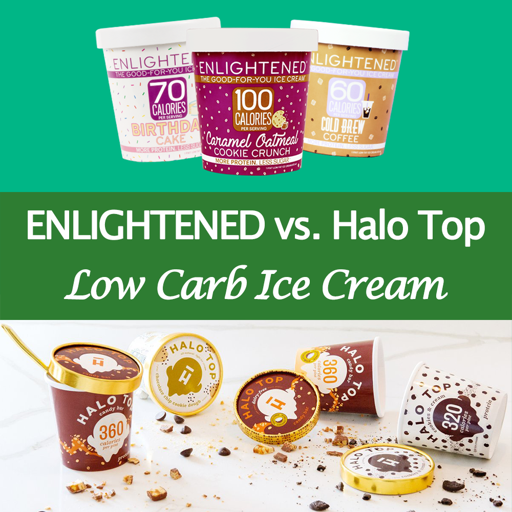 ENLIGHTENED vs. Halo Top Keto Ice Cream
