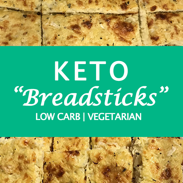 Low carb/keto cheesy cauliflower breadsticks