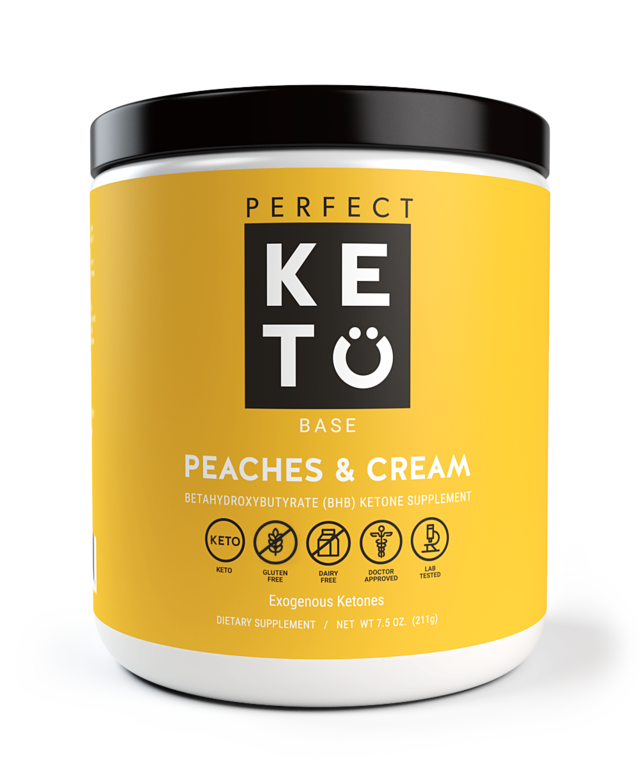 Perfect Keto Base Peaches and Cream